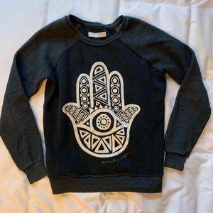 Spiritual Gangster Hamsa print crew sweatshirt